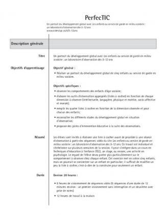 Document : Un portrait du développement global avec les 5-12 ans